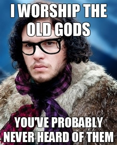 game of thrones, meme, hipster, jon snow