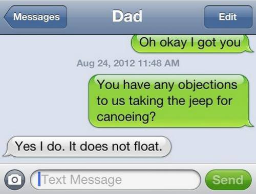 jeep, canoeing, iphone, does not float