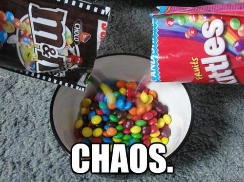 skittles, m&m's, chaos, meme