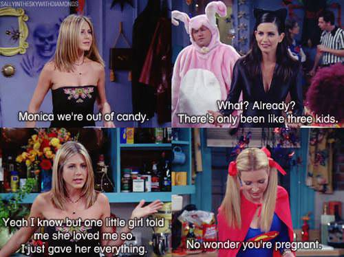 friends, comic, candy, love, halloween
