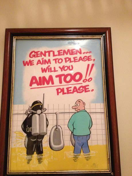 aim, please, sign, bathroom, toilet, urinal