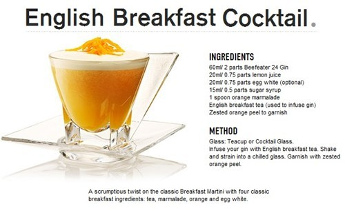 english breakfast cocktail, recipe, mixed drink, how to