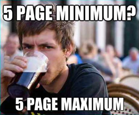 university, meme, beer drinking college student, page minimum, maximum