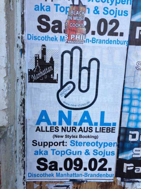anal, sign, acronym, germany