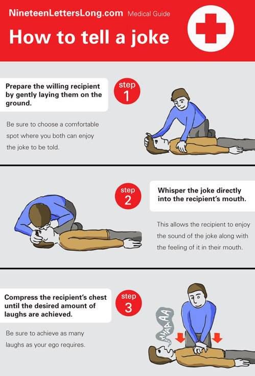 instruction, joke, how to, cpr, medical