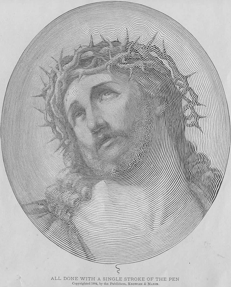 art, jesus, single stroke of a pen