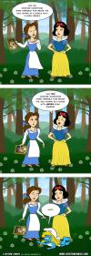 disney, cartoon characters, comic, beauty and the beast, snow white, smurfs