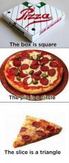pizza, logical, square, circle, triangle