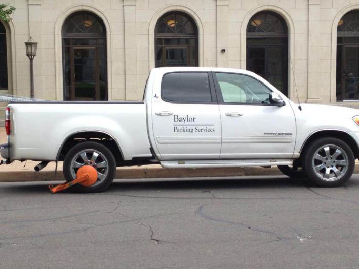 parking service, boot, irony, truck