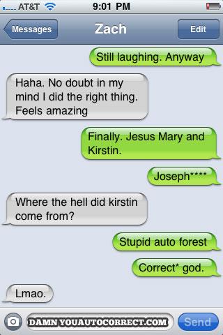 dryac, iphone, jesus mary joseph, kristin, lol