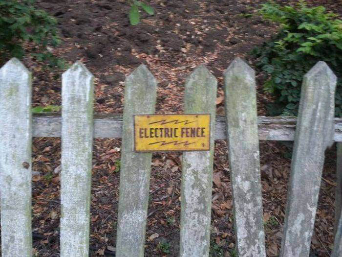 electric fence, seems legit, wood