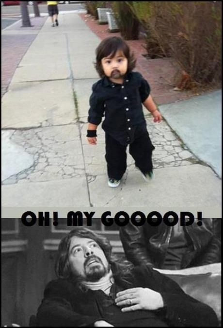 dave grohl, baby, costume, beard