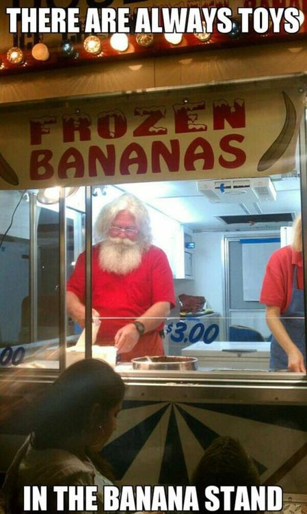 banana stand, santa claus, frozen, food, meme, toys