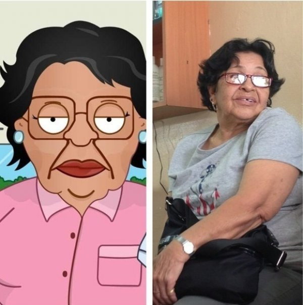 consuela, family guy, irl, in real life, totallylookslike