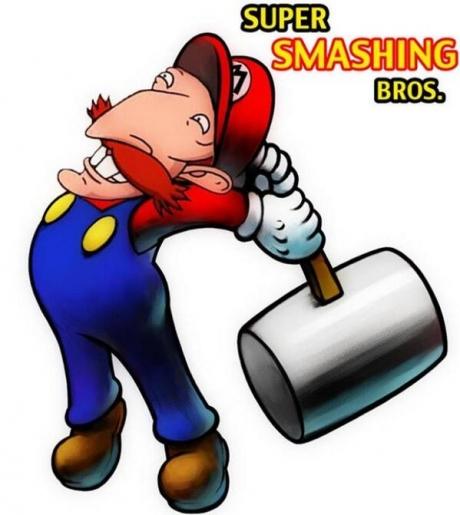 super smashing bros., smash brothers, video game, fan art, mashup