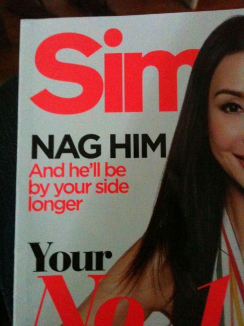 nag, worst, advice, dating