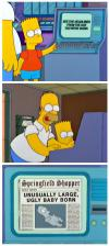simpsons, comic, newspaper, headlines, birthday