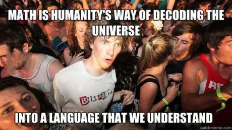 sudden clarity clarence, meme, math, universe, decode, language, understanding
