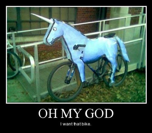 motivation, unicorn, bicycle, omg