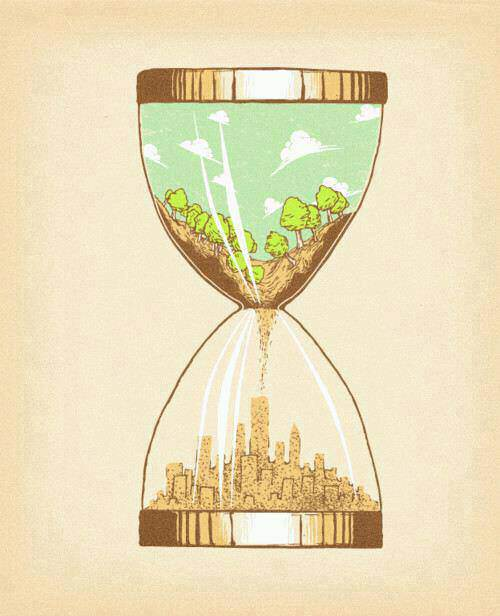 hour glass, trees, forest, nature, city