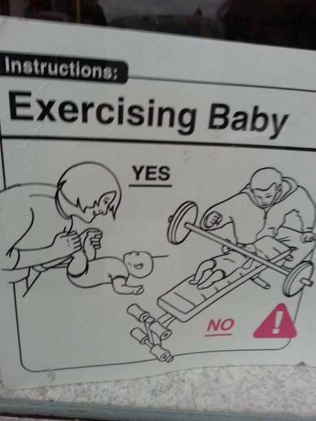 exercising baby, yes, no, instructions, lol, wtf