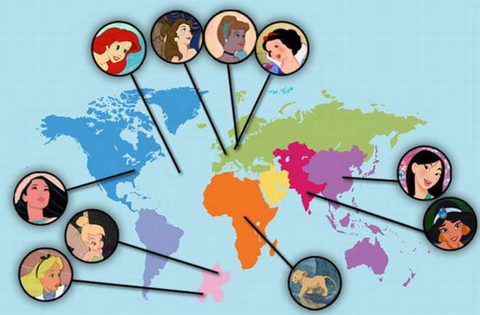 disney, countries, princesses, origins