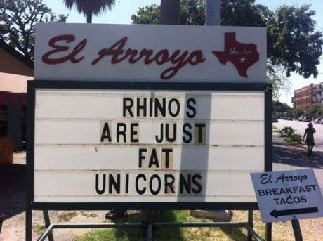 sign, rhinoceros, unicorn, fat