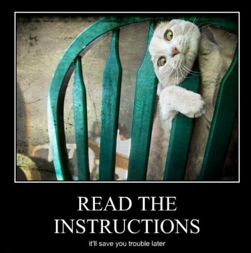 Read The Instructions It Ll Save You Trouble Later Justpost