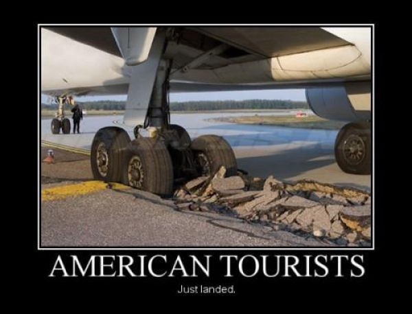 motivation, plane wheels, cement destroyed, american tourists, heavy