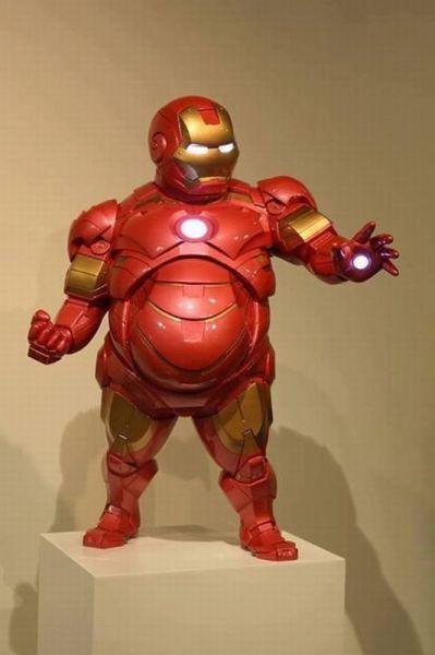 iron man, fat, suit