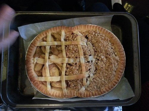 pie, double, the venn pie-agram