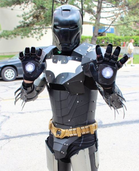 batman, ironman, mashup, cosplay, costume, win