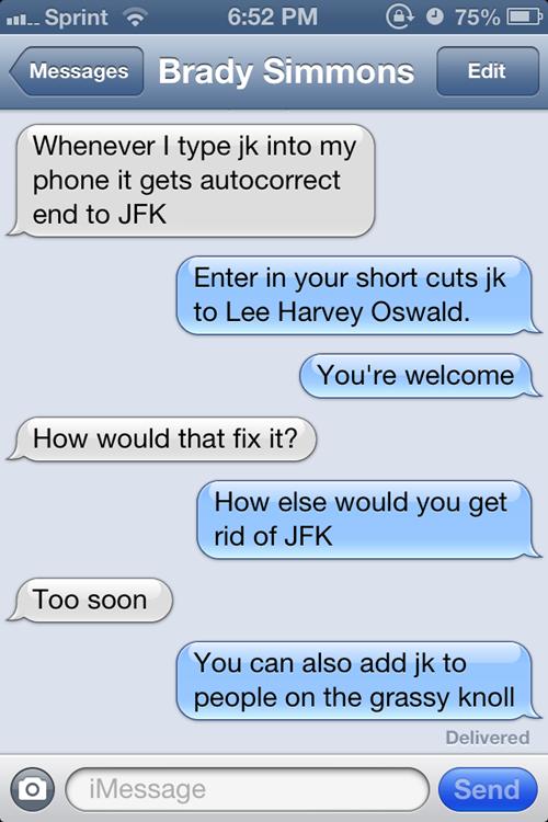 jfk, lee harvey oswald, kennedy, dyac, shortcut, iphone