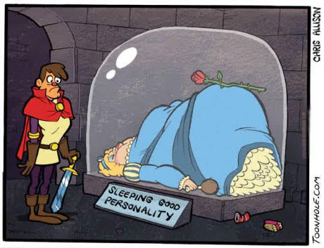 sleeping good personality, beauty, comic, parody, prince