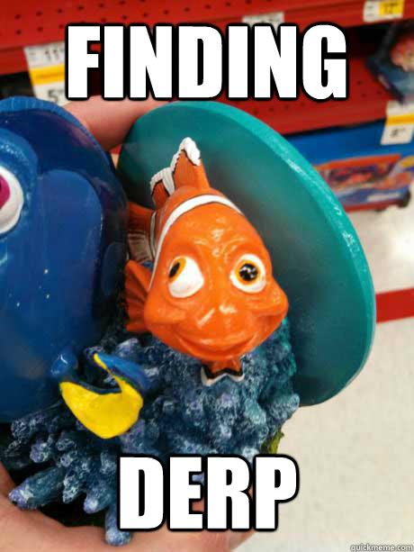 finding nemo, derp, fish, fail, eyes, meme