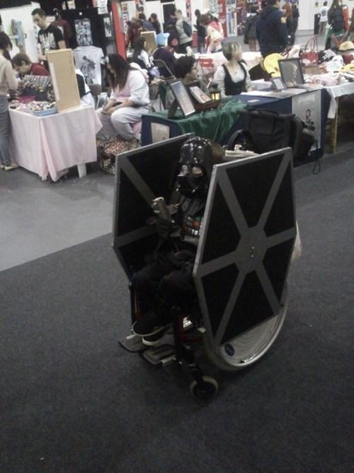 wheelchair, costume, star wars, darth vader
