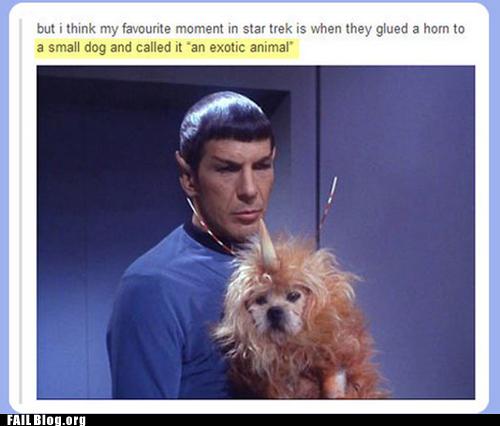 star trek, horn, dog, fail, lazy