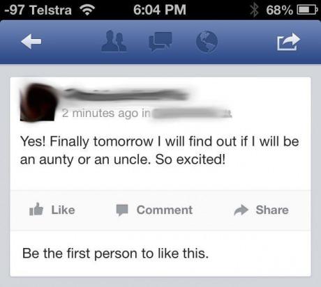 facebook, aunt, uncle, status, stupid