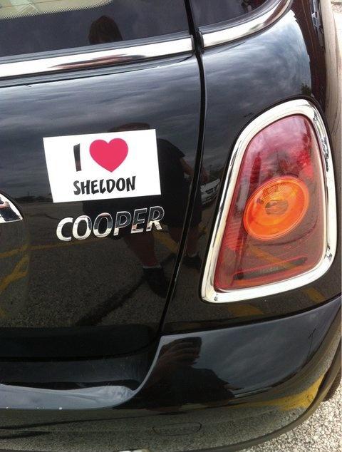 big bang theory, bumper sticker, car, sheldon cooper