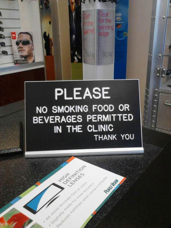 sign, english, fail, no smoking food or beverages