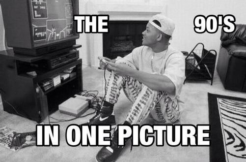 the 90's in one picture, will smith, fresh prince, nintendo, meme