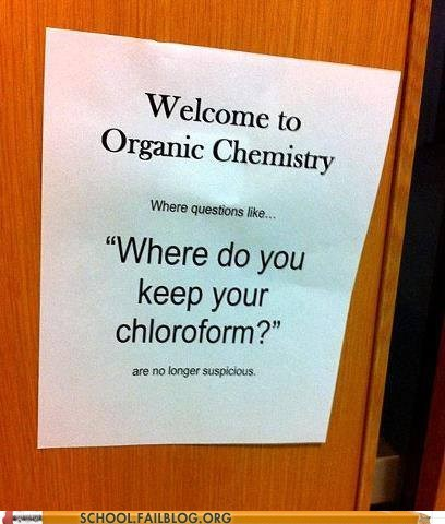 organic chemistry, chloroform, suspicious