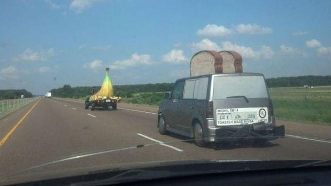 car, toaster, banana, wtf, vehicle