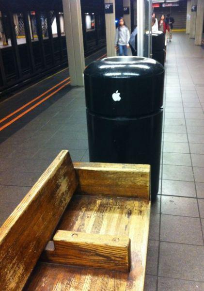 mac pro, garbage, apple sticker, totallylookslike