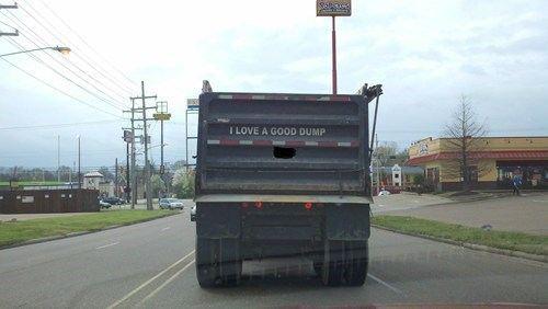 decal, good, dump truck