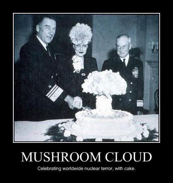 motivation, nuclear terror, mushroom cloud, cake