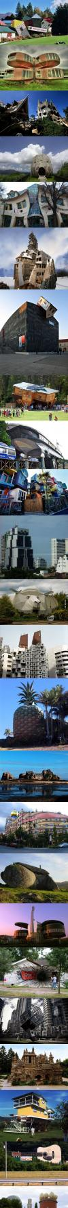 compilation, crazy, houses, buildings, cool, wtf