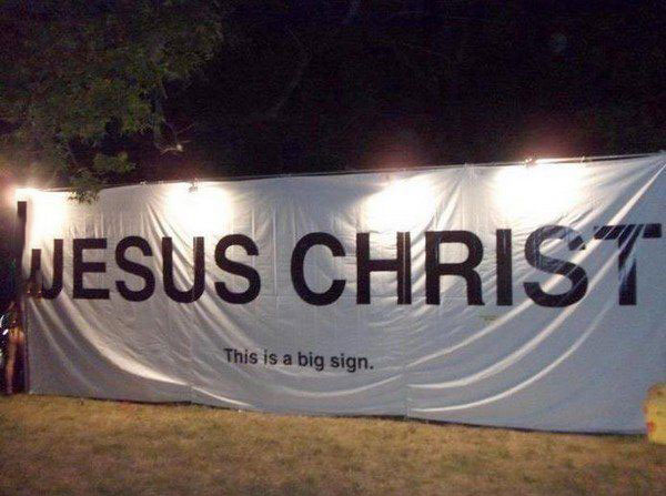 sign, jesus christ