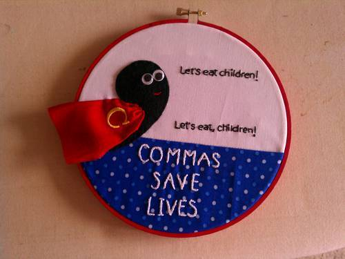 commas, eat children, lol