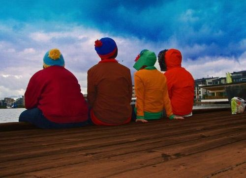 south park irl, in real life, cartman, kenny, kyle, stan